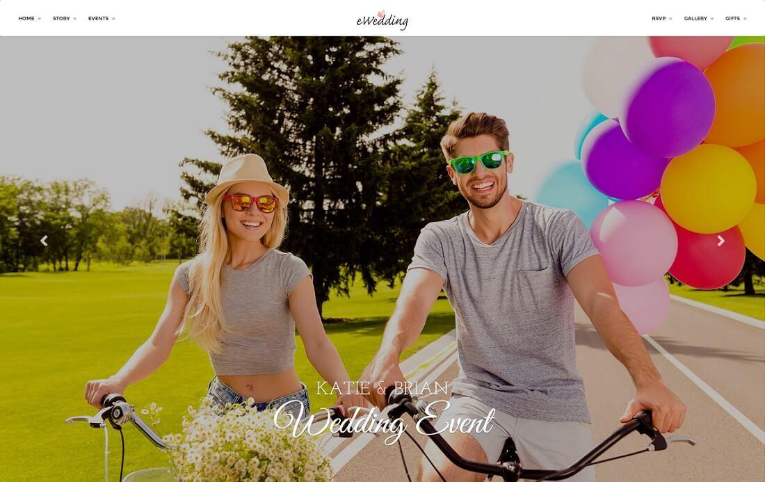 ewedding HTML wedding website template