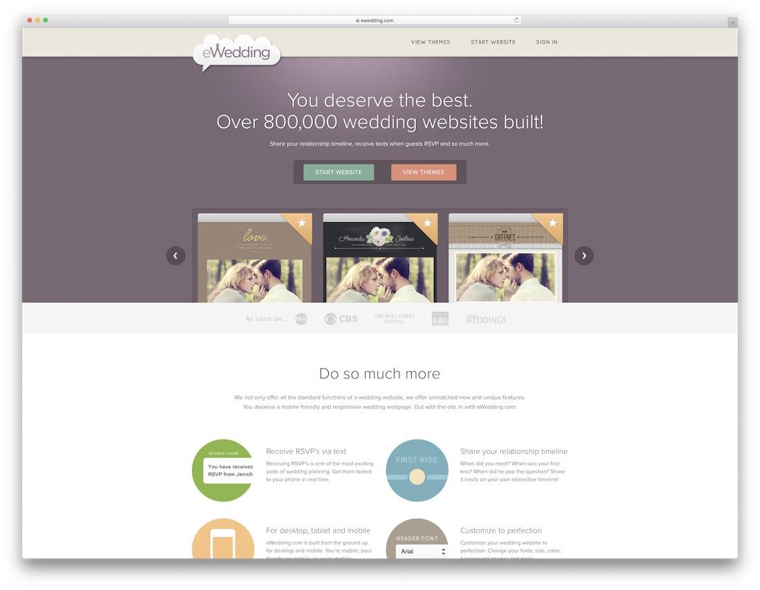ewedding wedding website builder