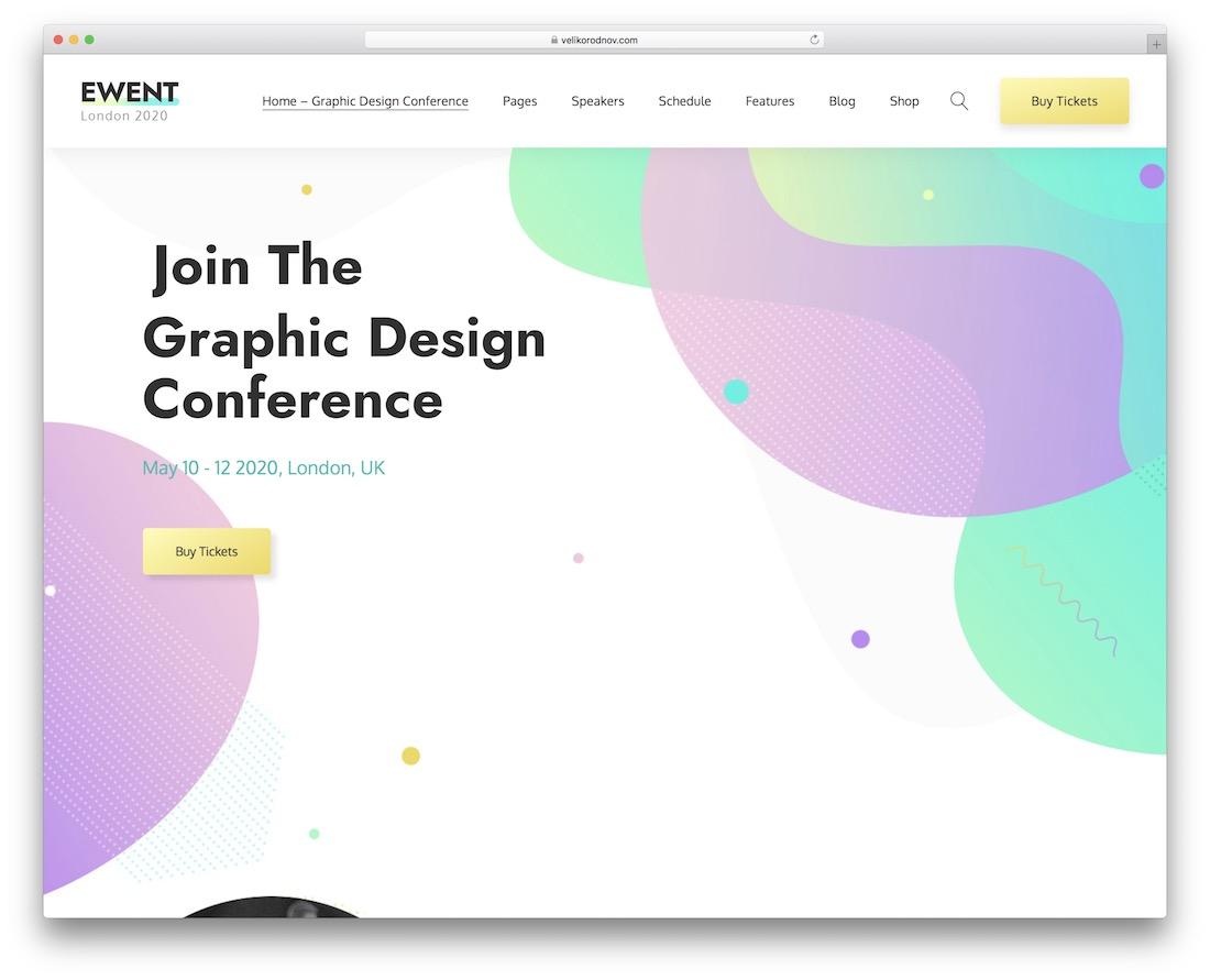 ewent event planner wordpress theme