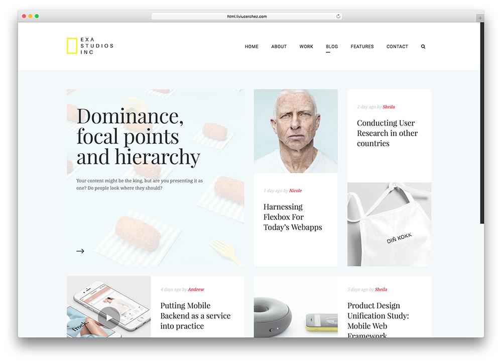 exa-light-blogging-css3-html5-template