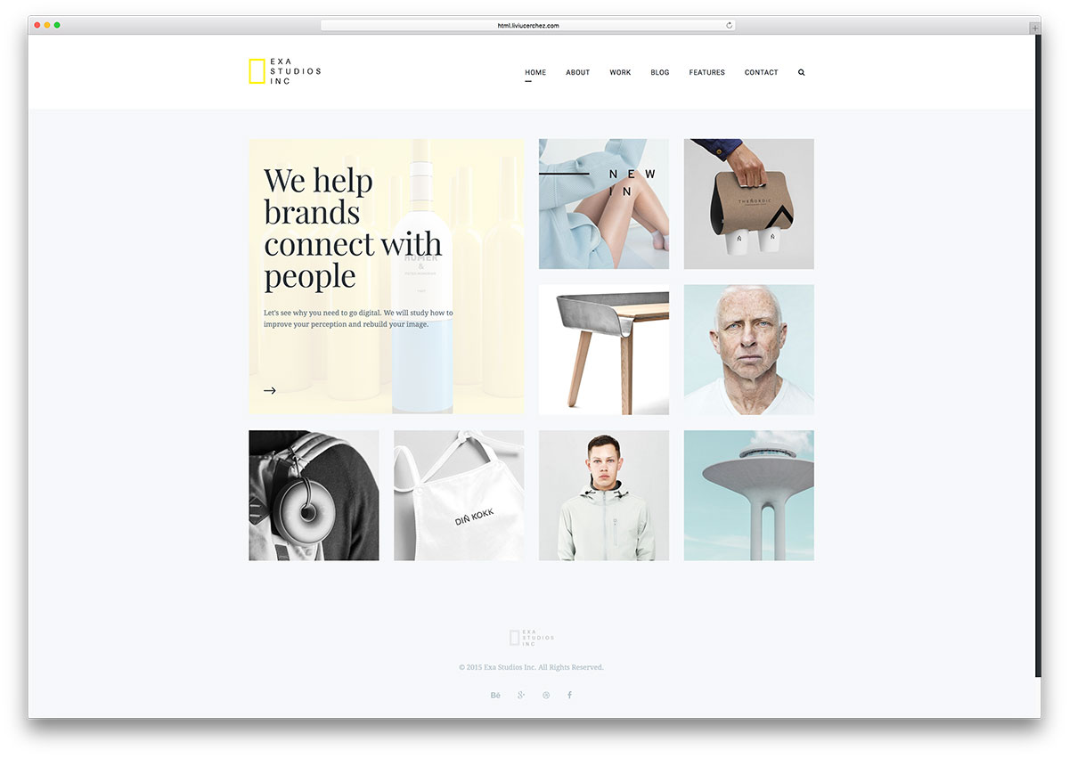 Top 20 gallery html5 website templates 2017 colorlib exa simple gallery html website template pronofoot35fo Image collections