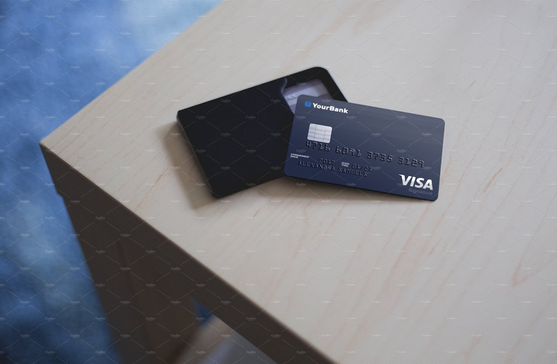 exclusive credit card mockup