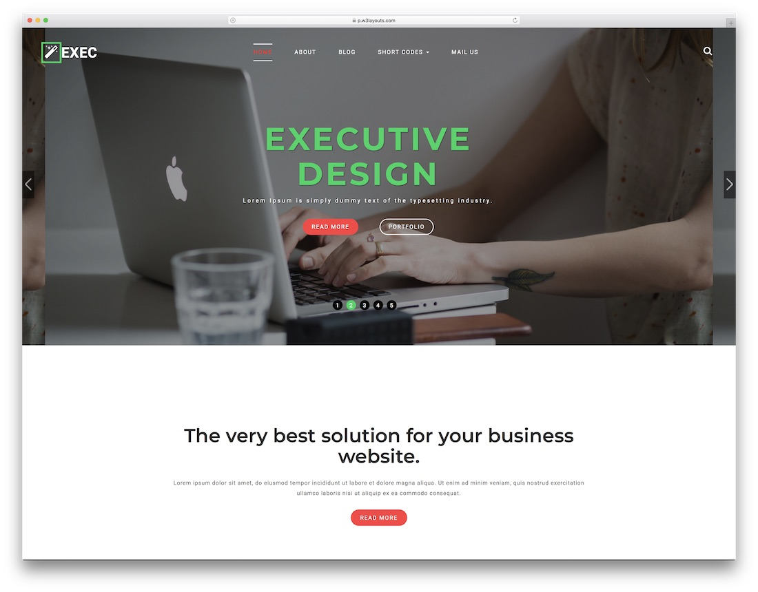 exec free lawyer website template