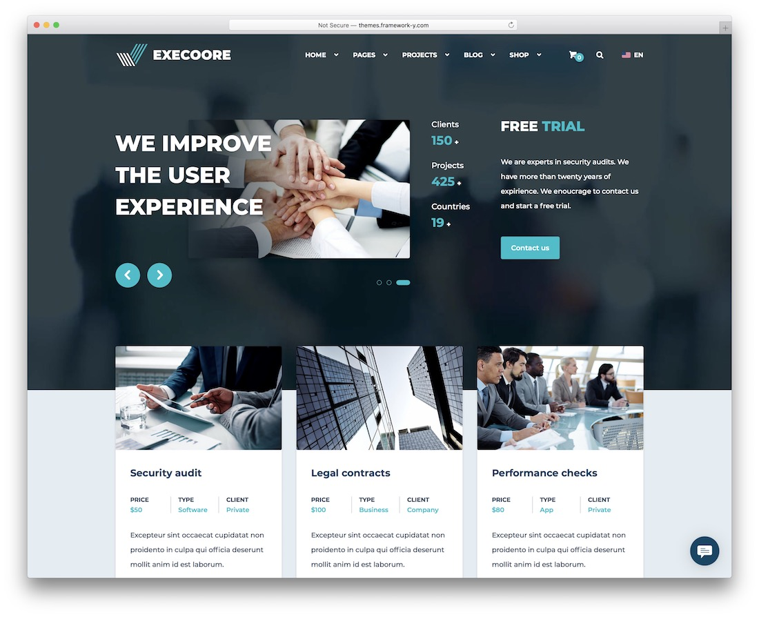 execoore wordpress theme