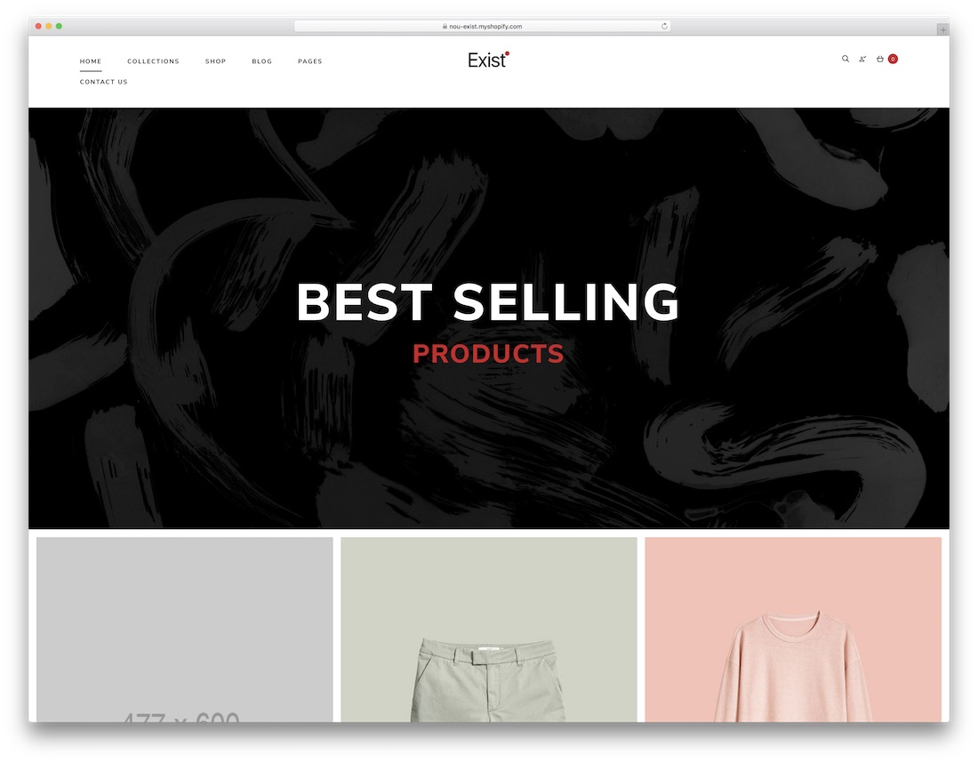 exist fashion shopify theme