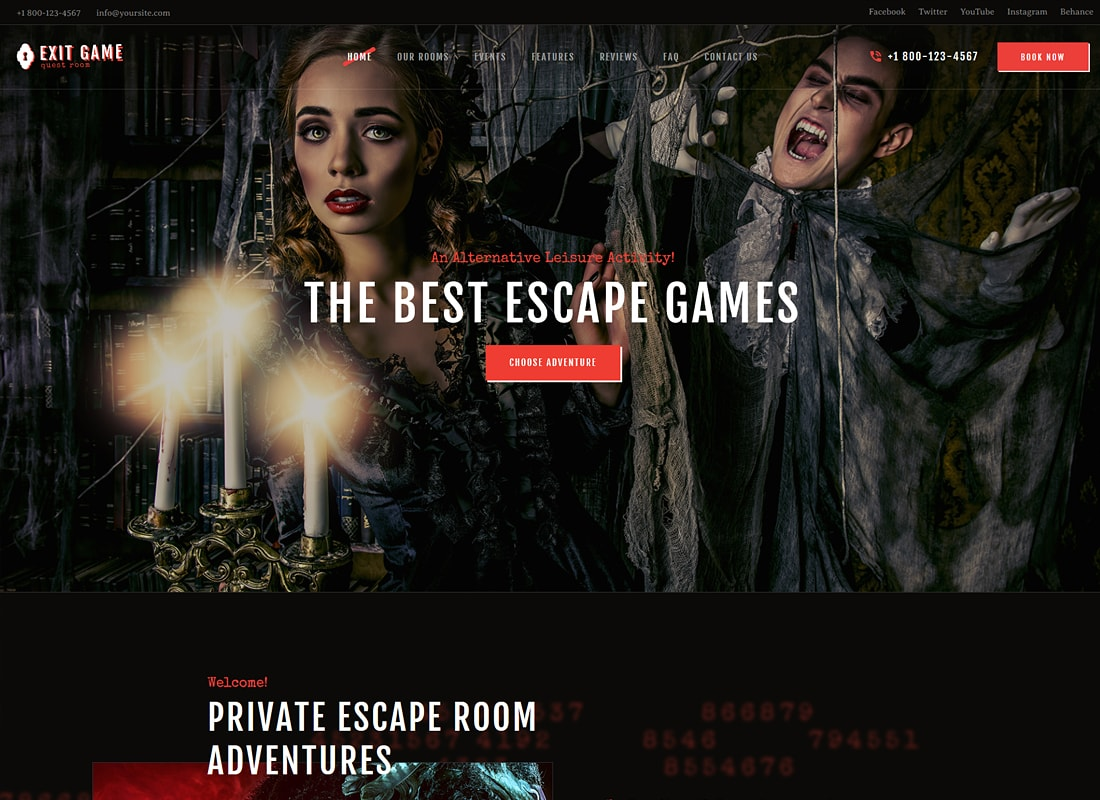 Exit Game | Real-Life Room Escape WordPress Theme