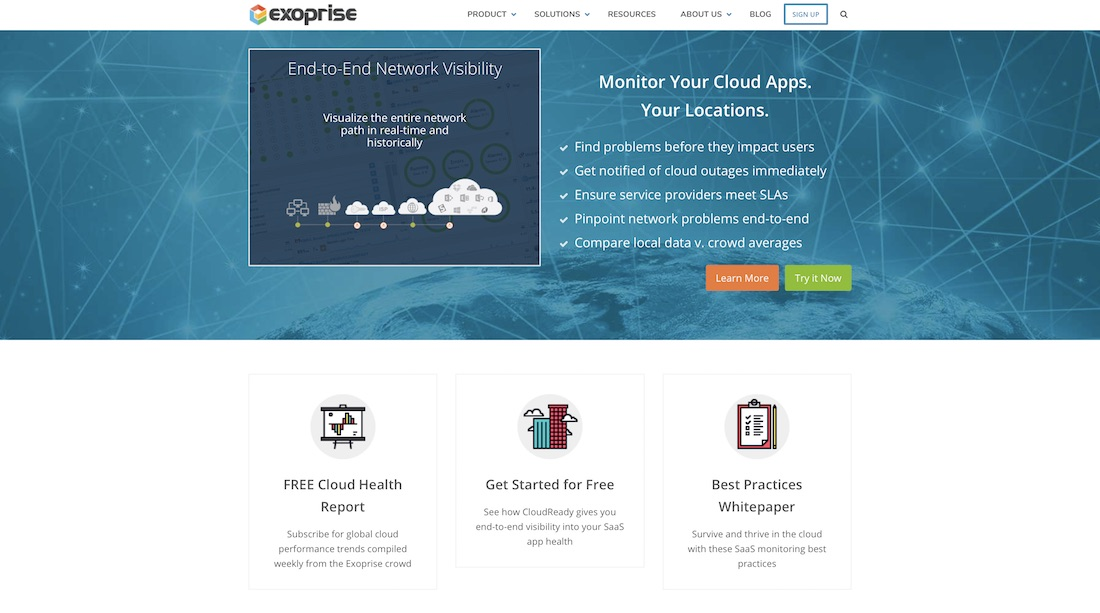 exoprise monitoring tool for web developer