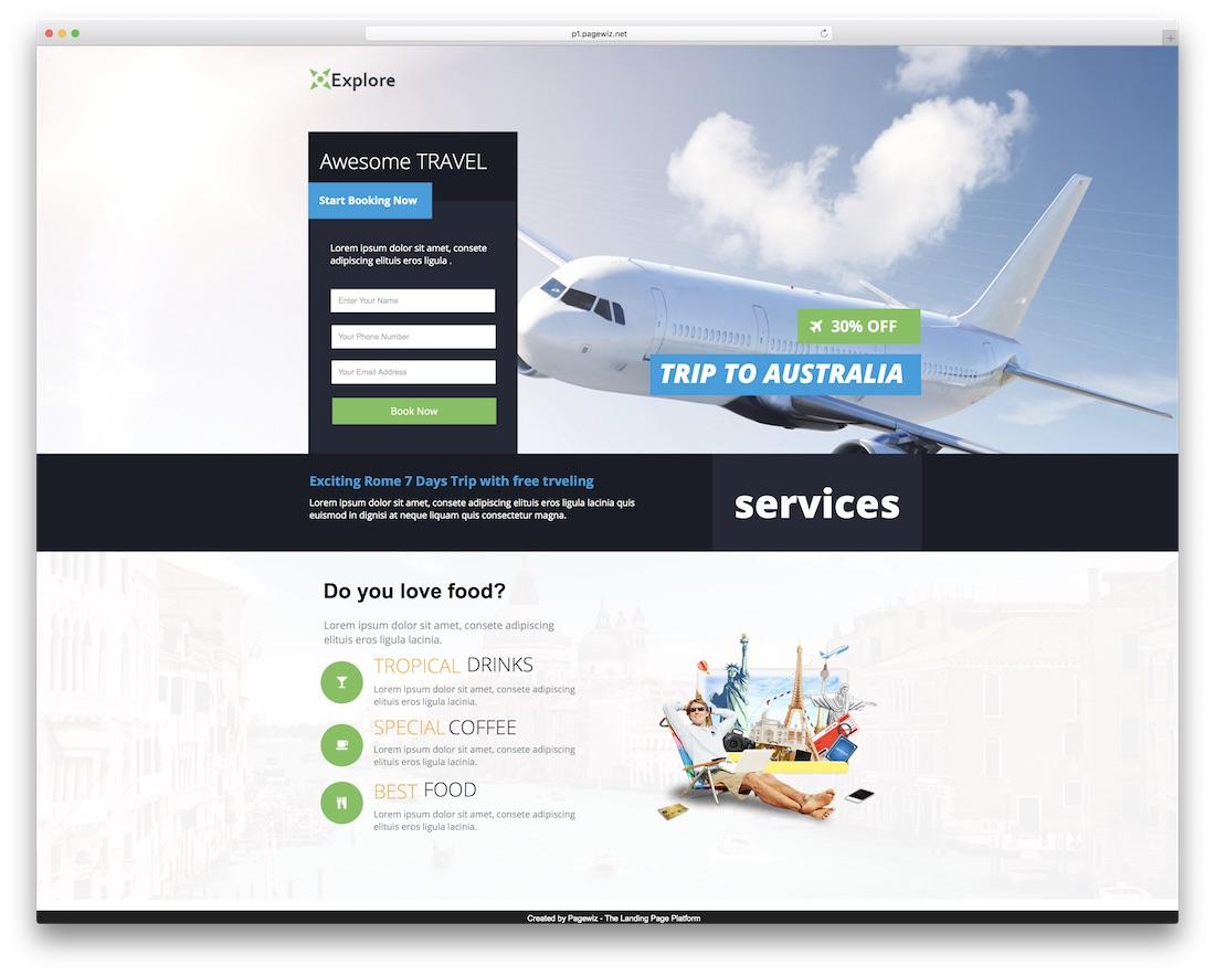 explore pagewiz marketing template
