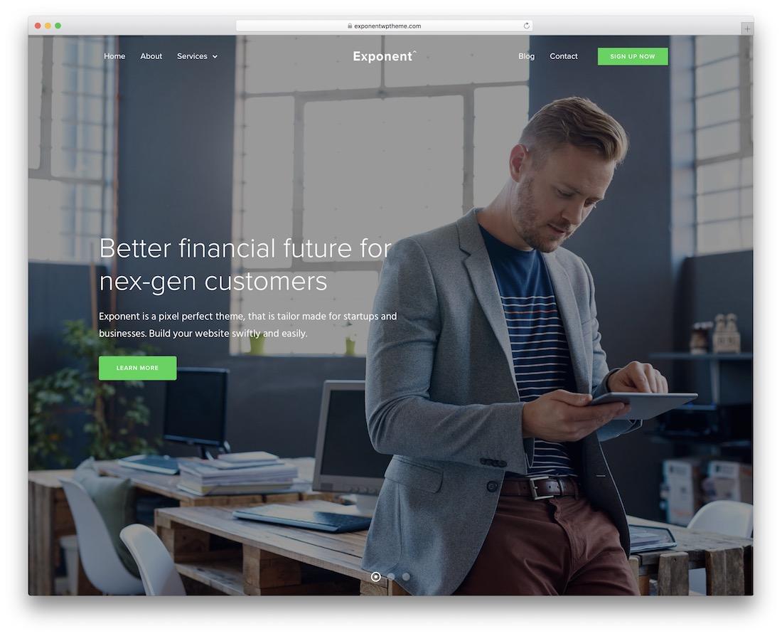 exponent business website template