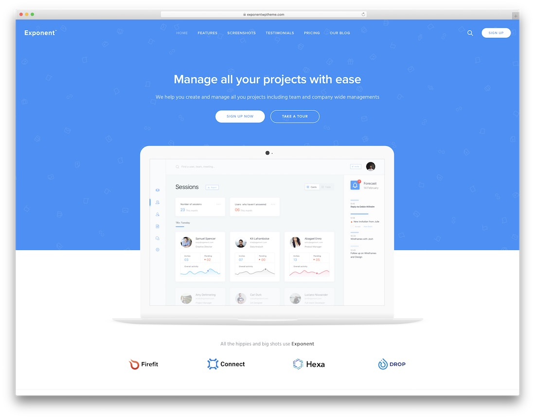 exponent it company wordpress theme
