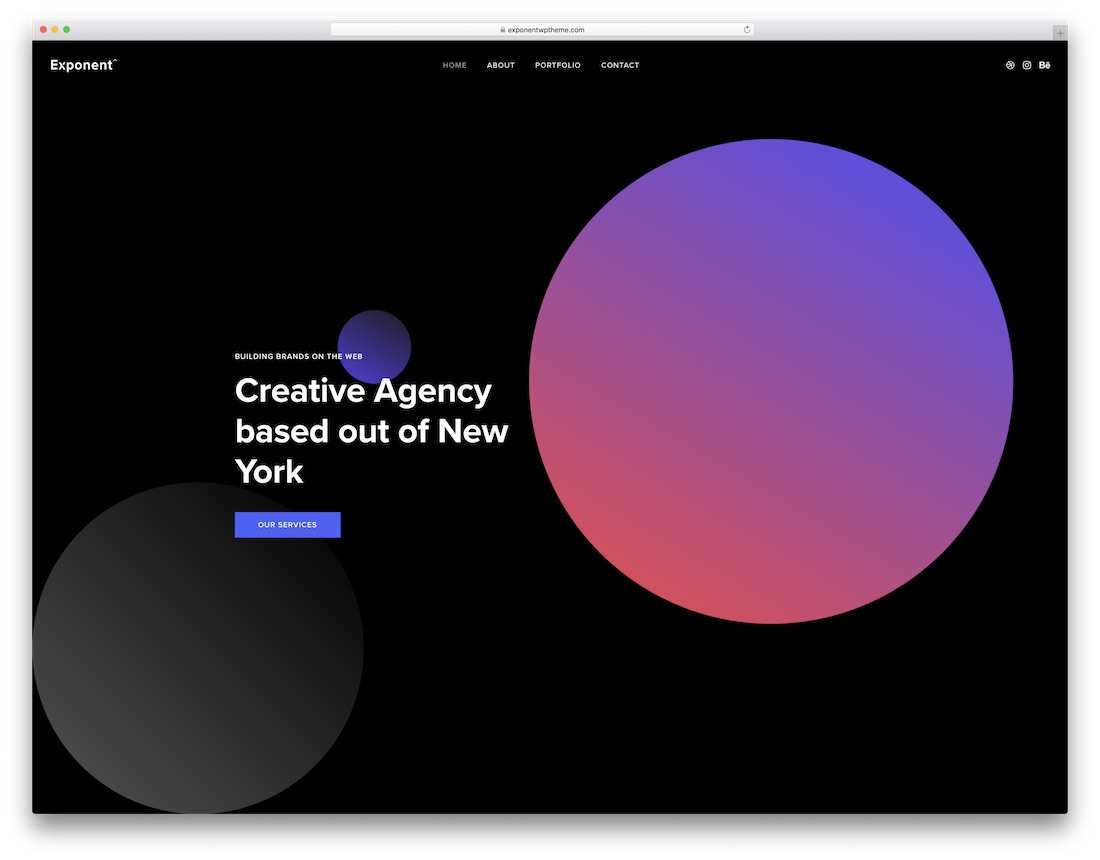 exponent wordpress theme for web agencies and seo companies