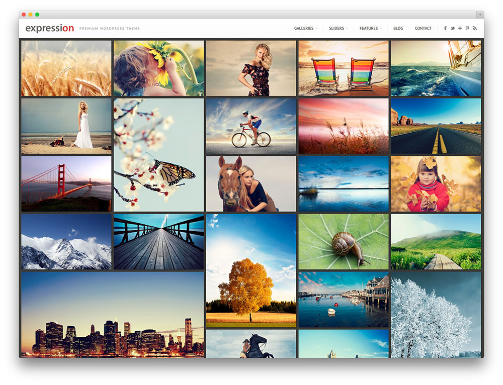 expression - photography WordPress theme