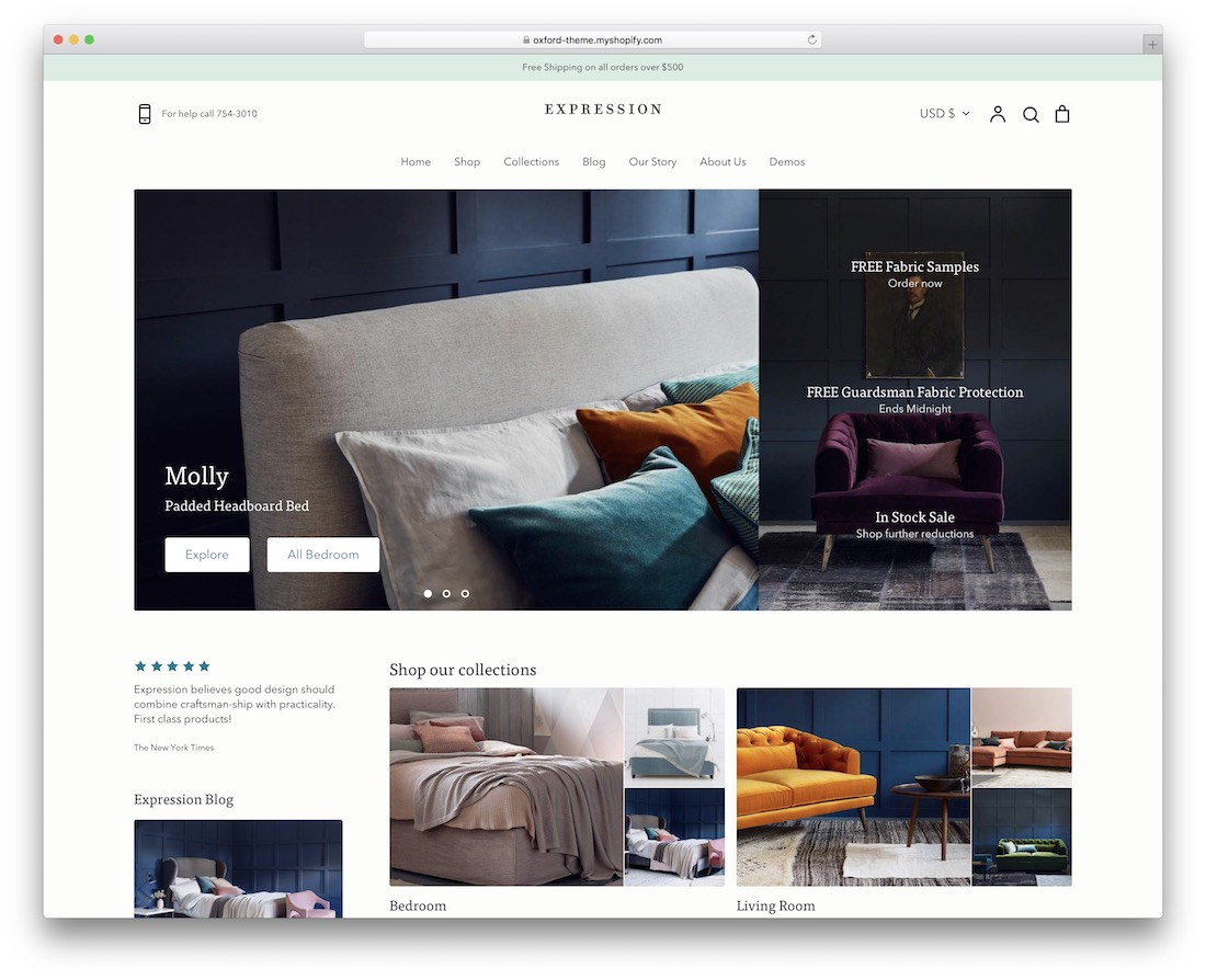 expression shopify real estate theme
