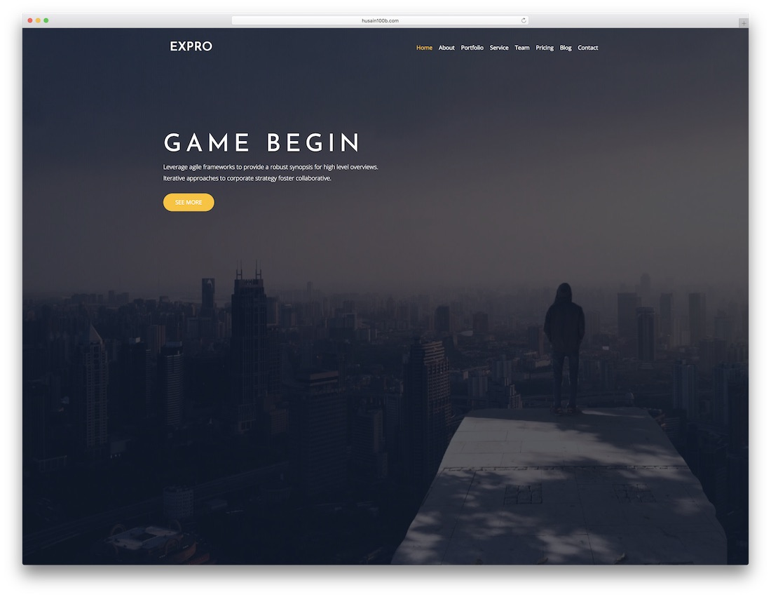 expro parallax website template