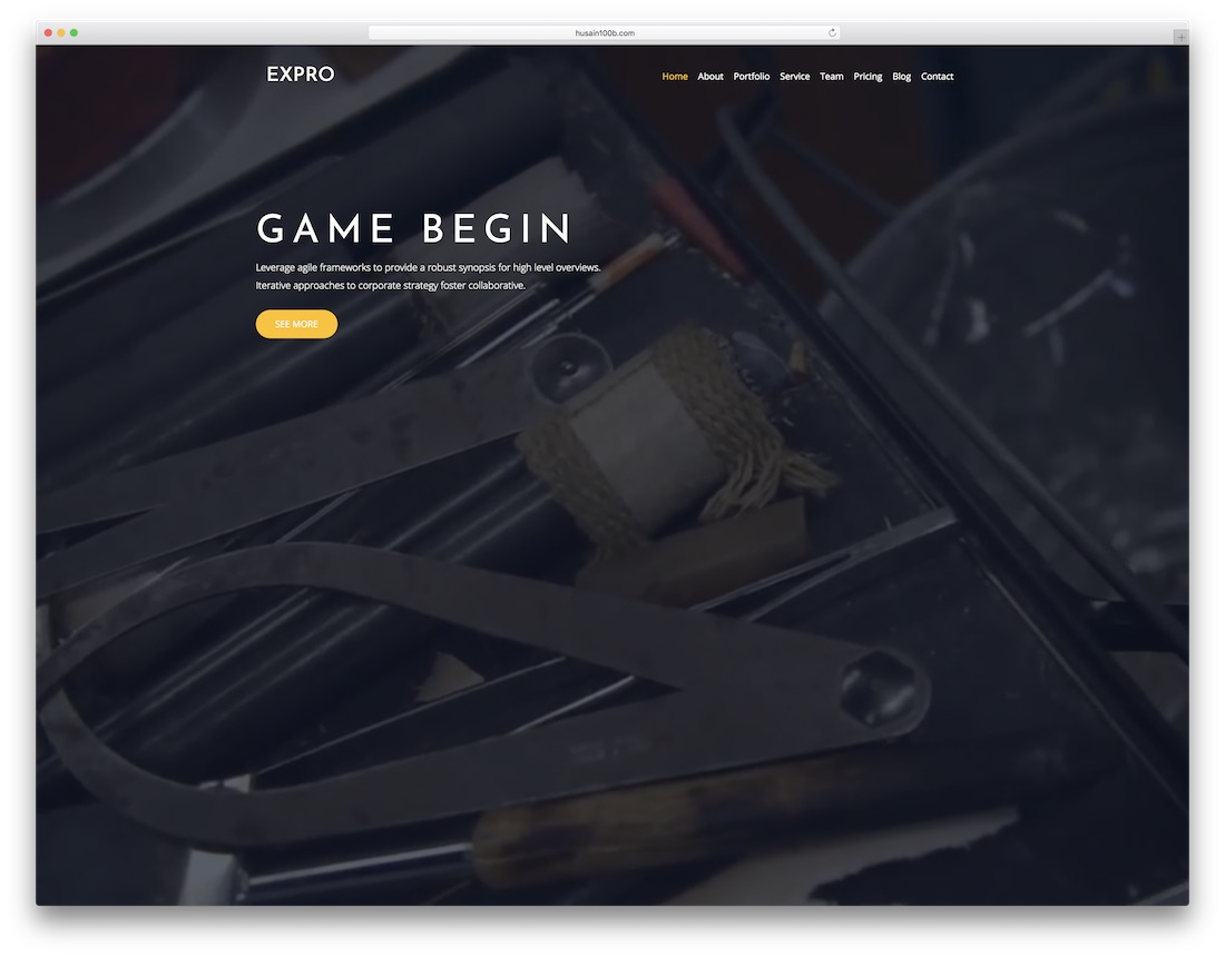 expro video website template