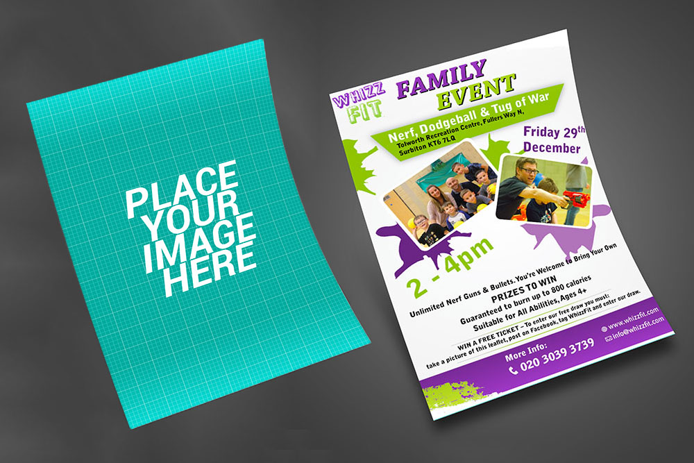 exquisite and realistic free flyer psd mockup