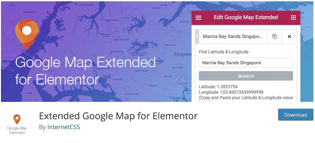 extended google map for elementor
