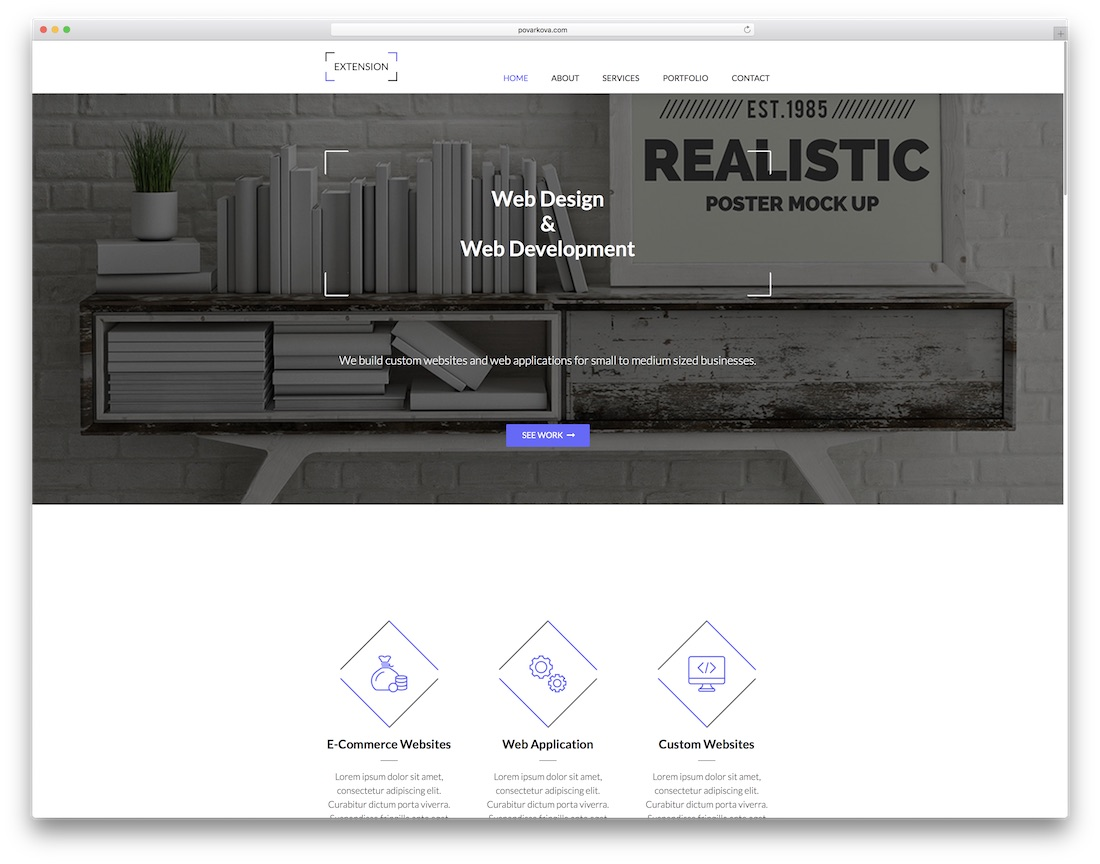 extension clean adobe muse template