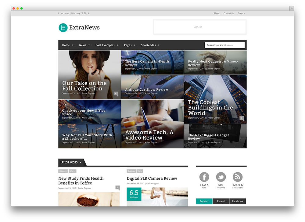 extranews - fashion magazine theme