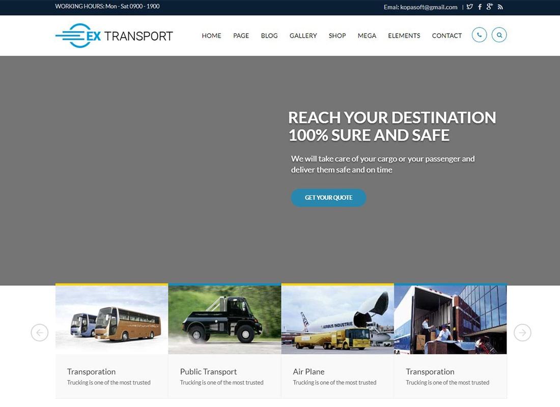 Extransport | Freight, Logistics WordPress Theme