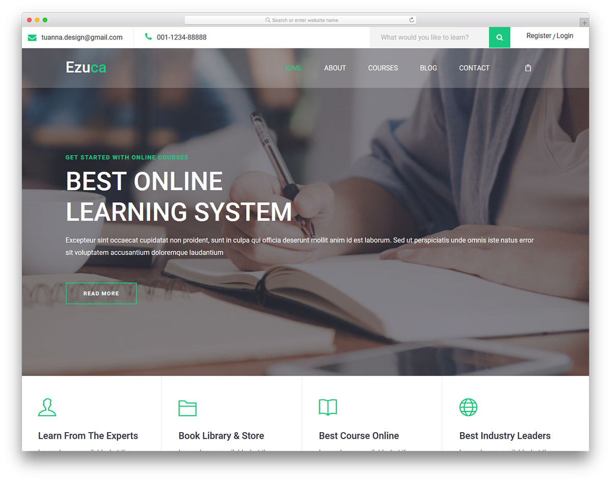 26 Best Free and Premium Education Website Templates 2018 - Colorlib