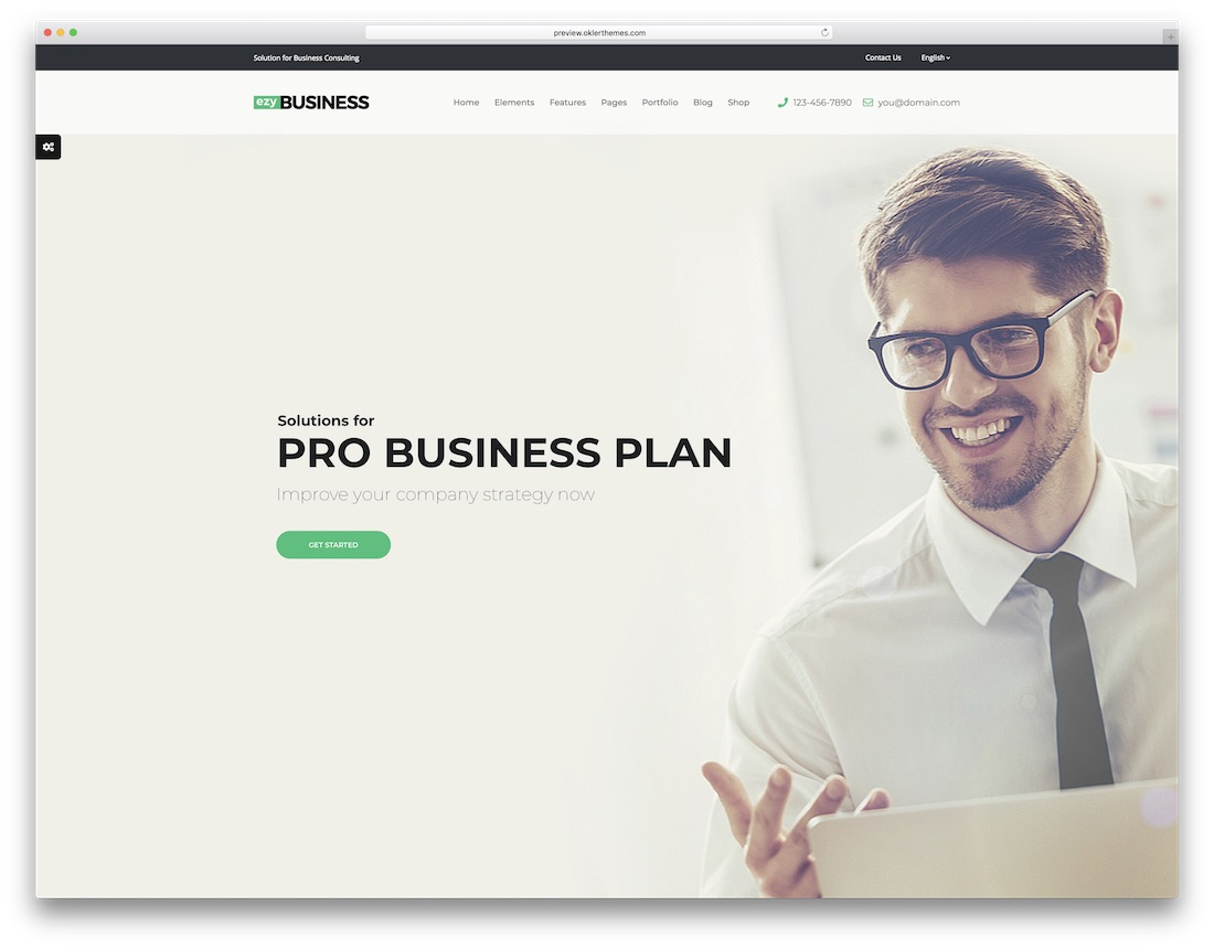 ezy consulting website template
