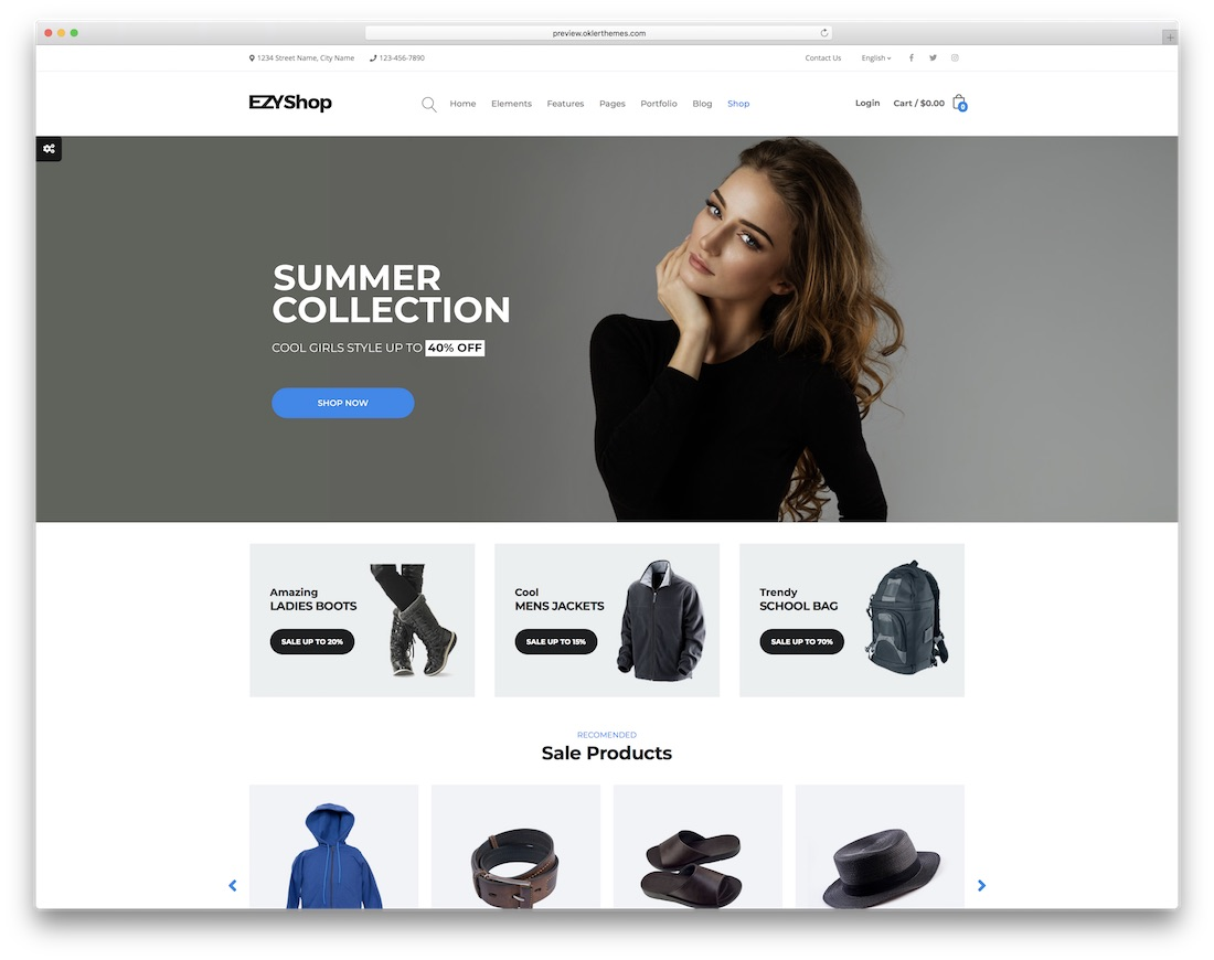 ezy ecommerce website template