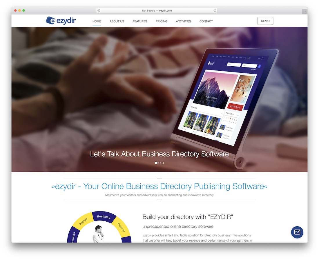 ezydir directory website builder