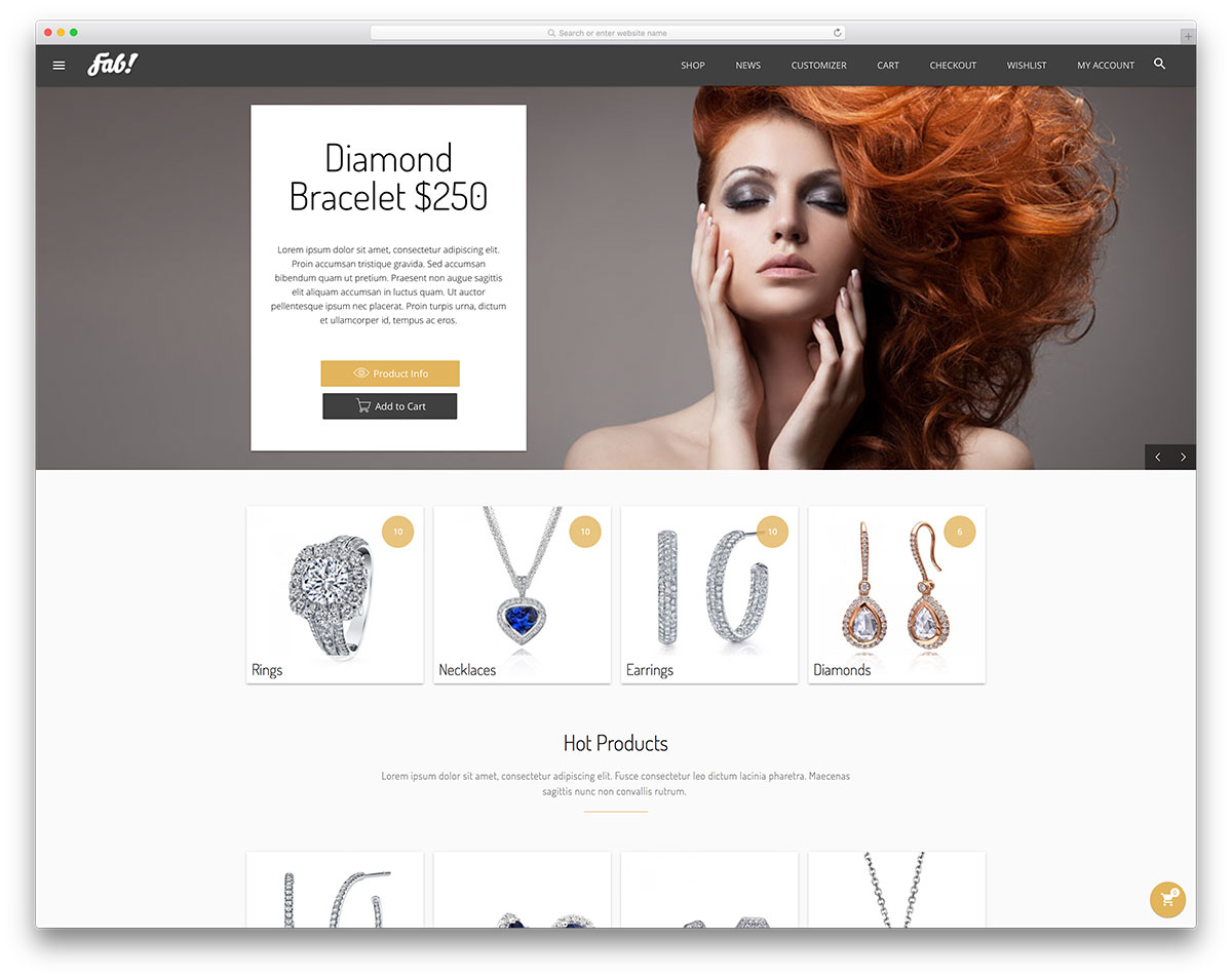 18 Jewelry WordPress Themes For eCommerce Sites 2018 - Colorlib
