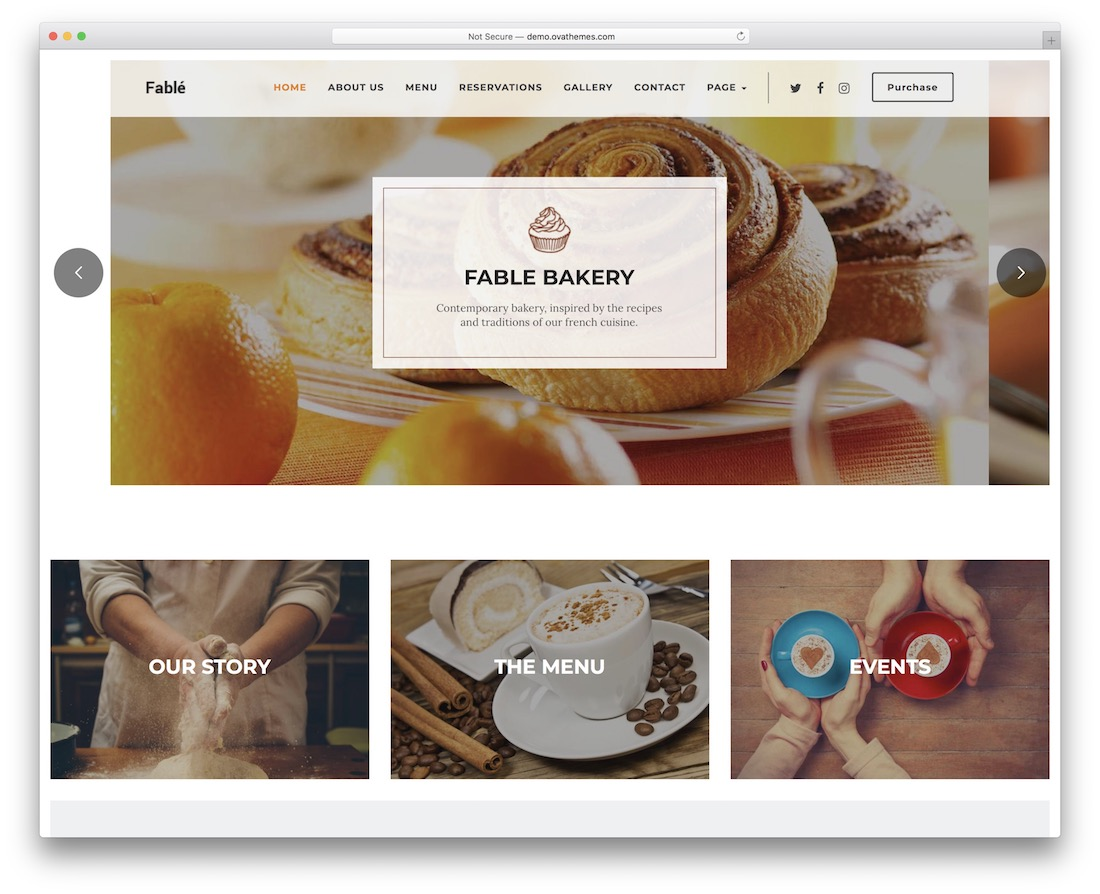 fable cake shops wordpress theme