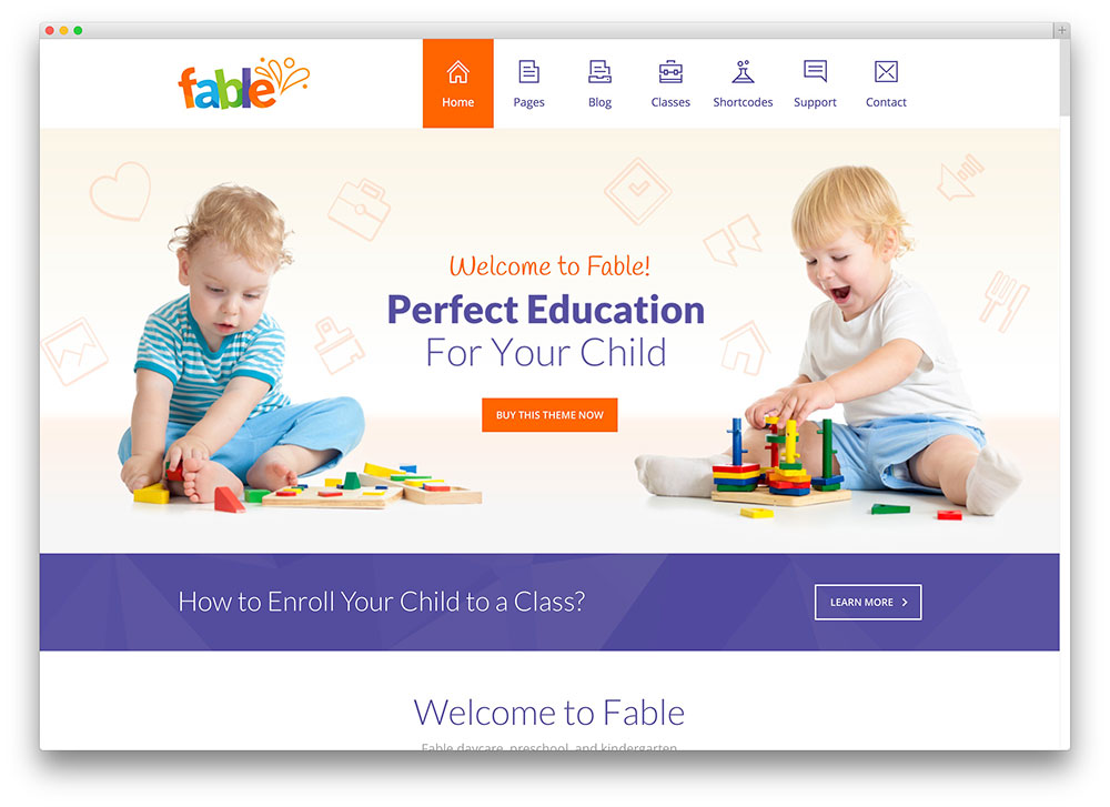 fable - flat design kindergarten theme