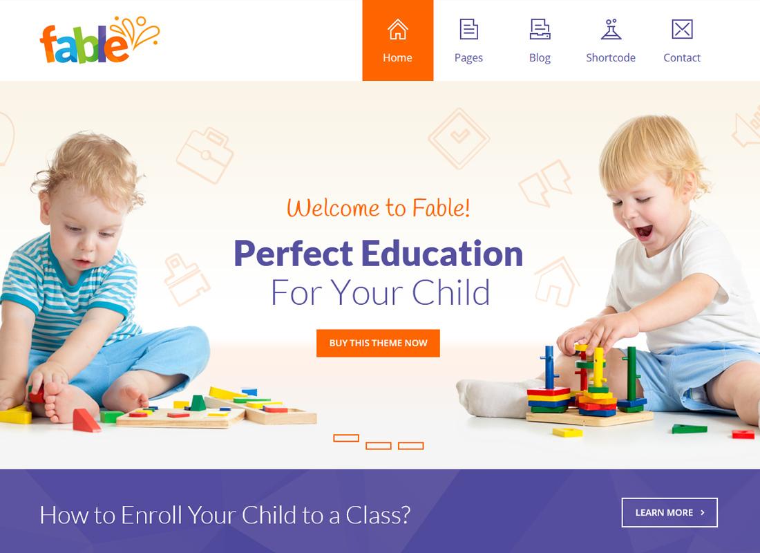 Fable - Children Kindergarten WordPress Theme