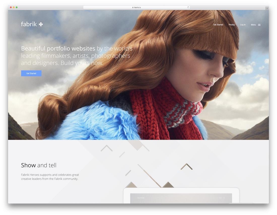 fabrik best portfolio website builder