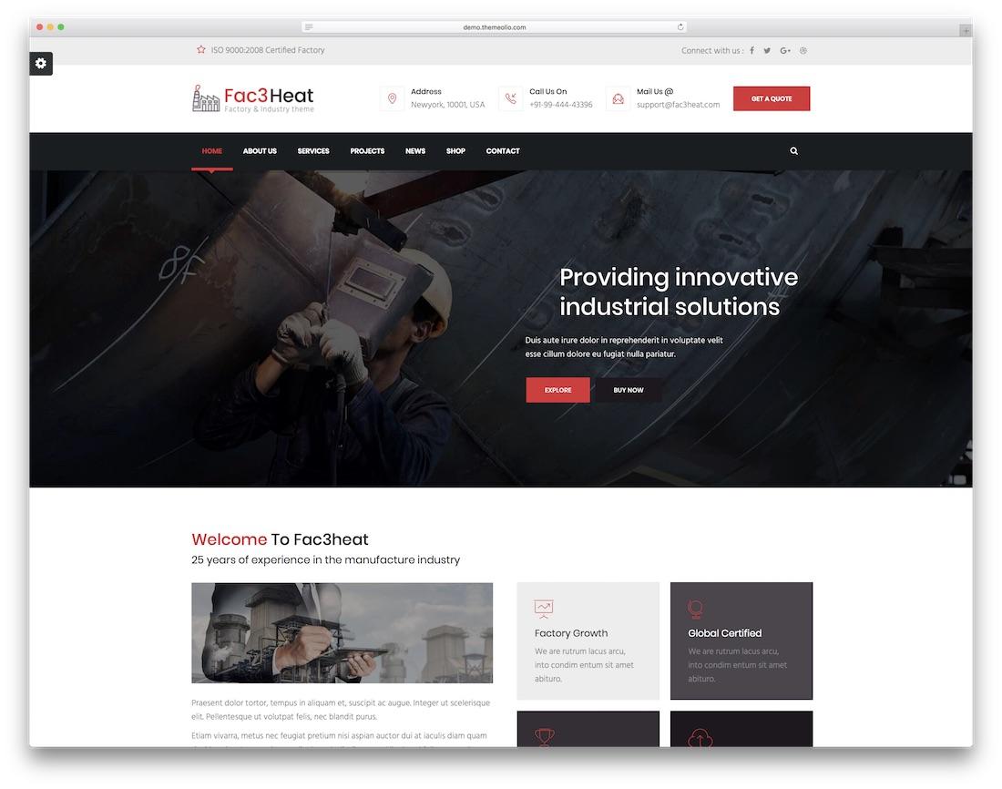fac3heat joomla business template