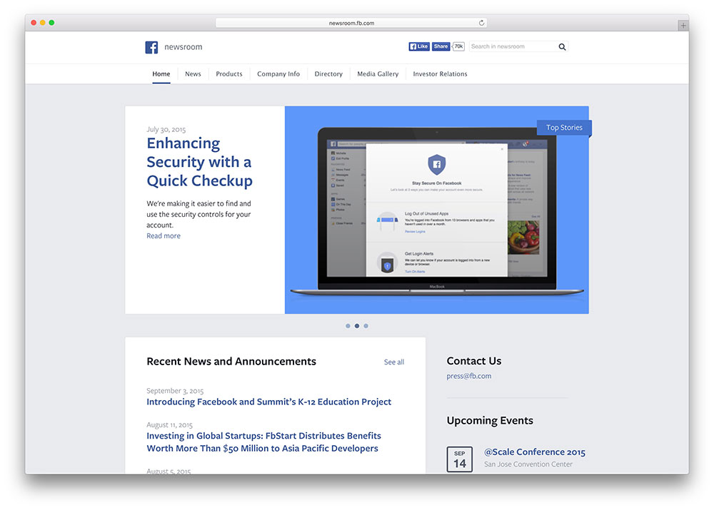facebook-newsroom-wordpress-theme