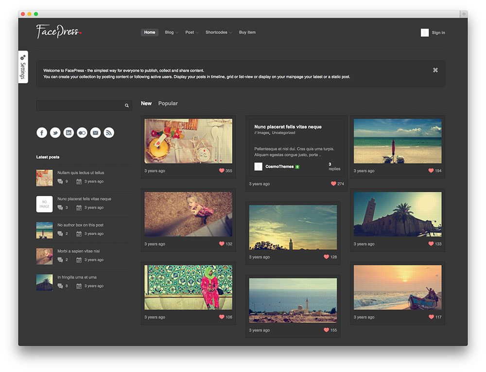 Content Sharing WordPress Themes & Template