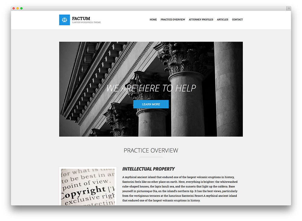 factum law office wordpress theme