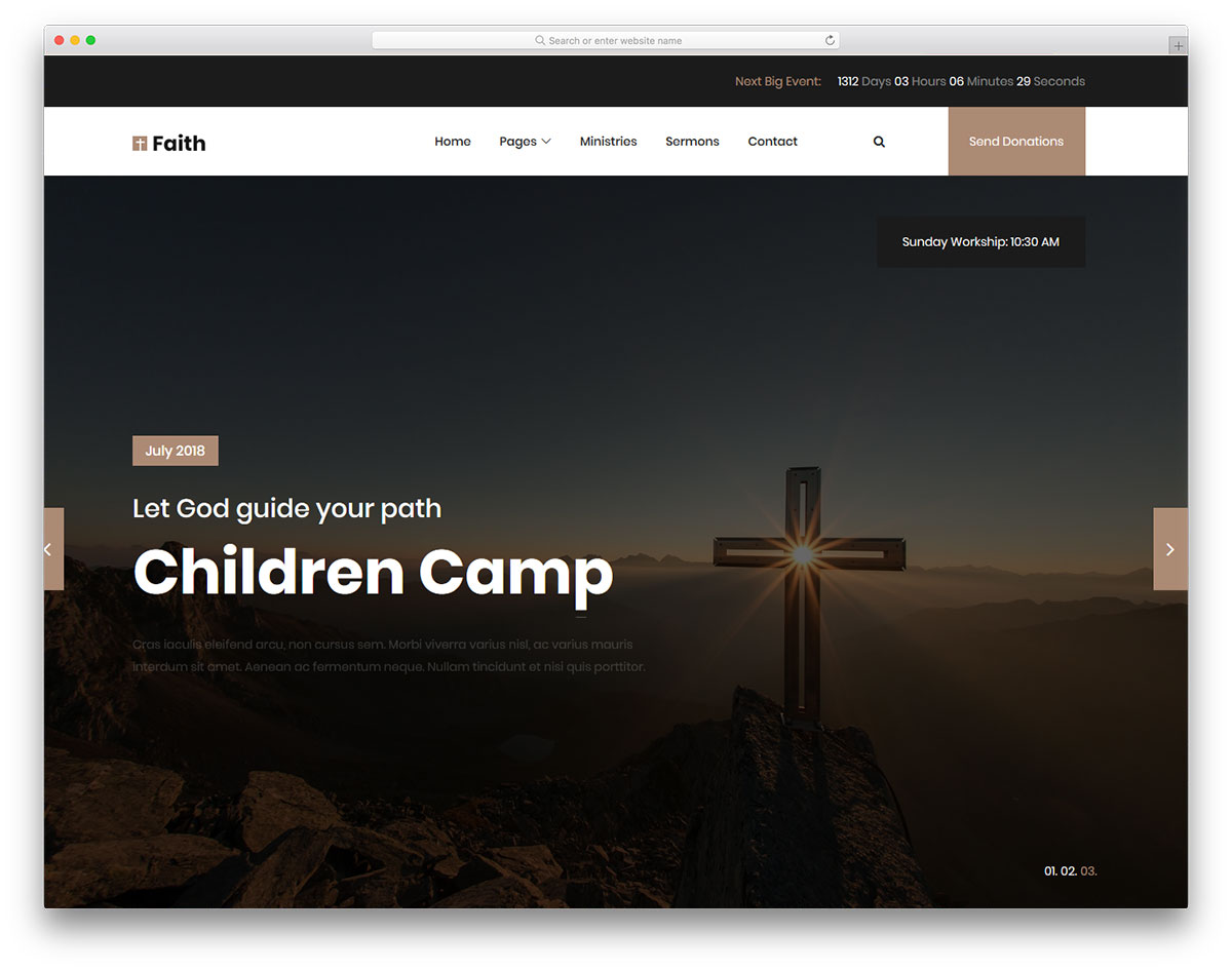 Скачать бесплатно html шаблон Faith 2