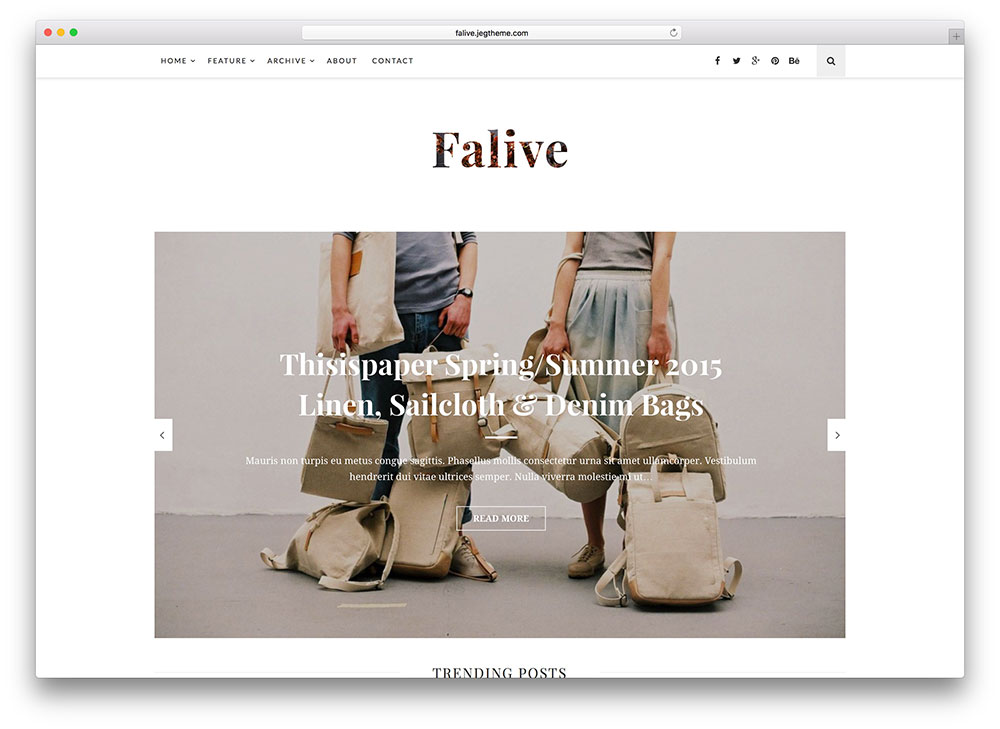 falive - amazing magazine theme