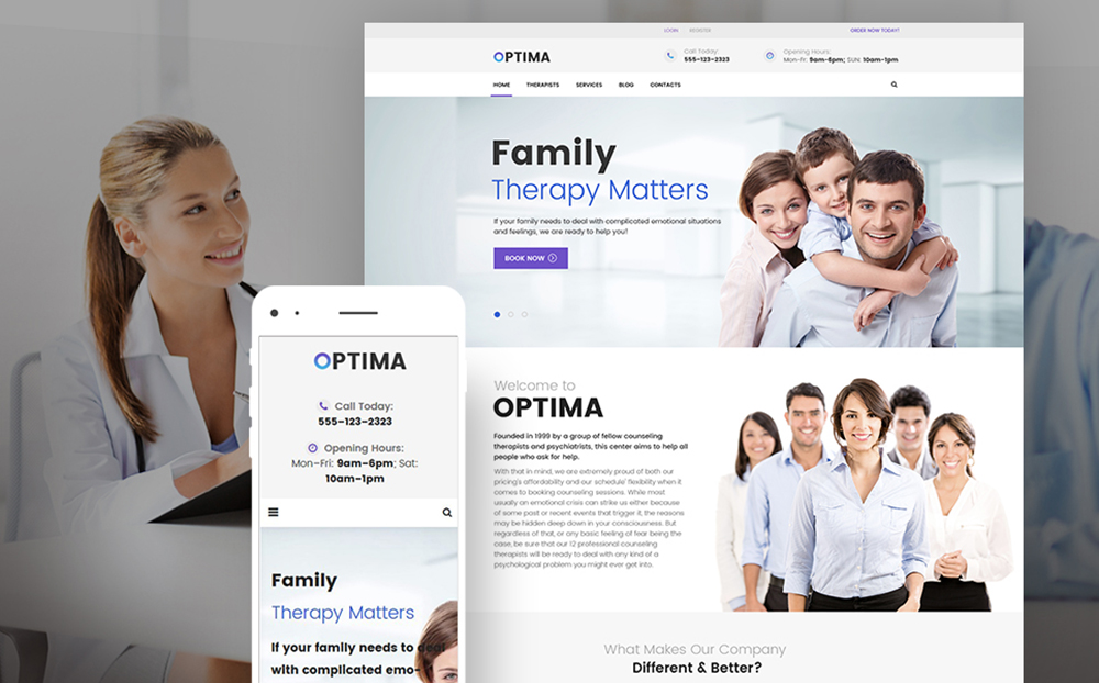 Psychologist WordPress Theme
