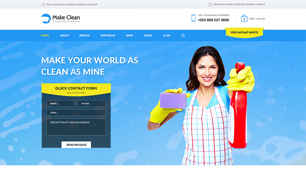 Make Clean - Cleaning Company WordPress Theme