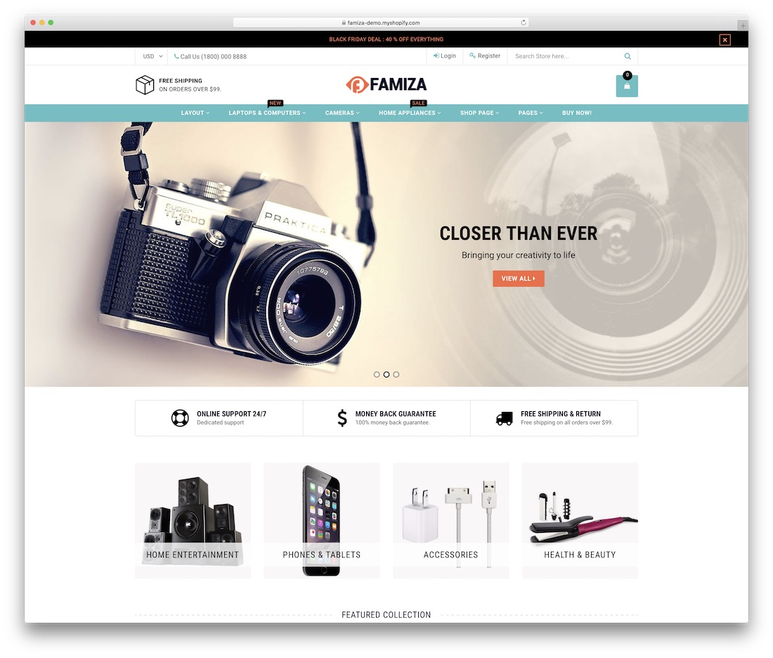 famiza shopify technology theme