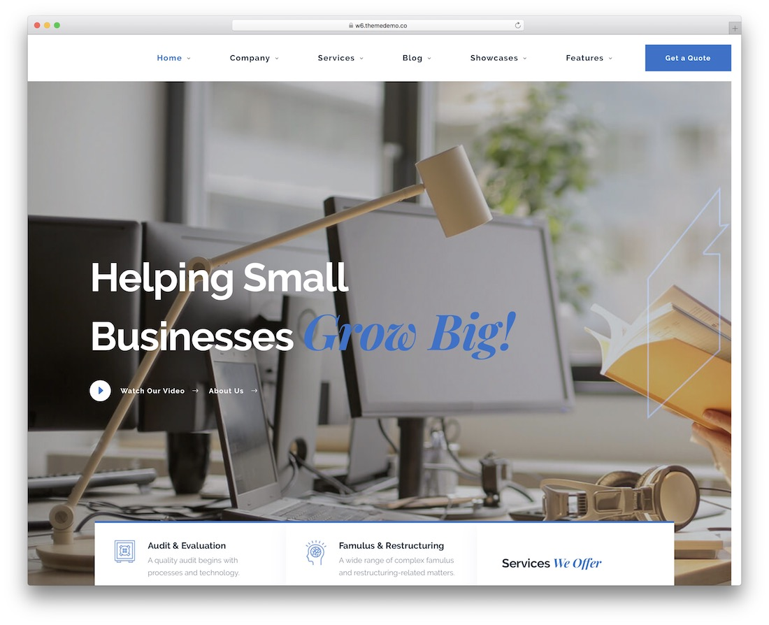 famulus consulting website template