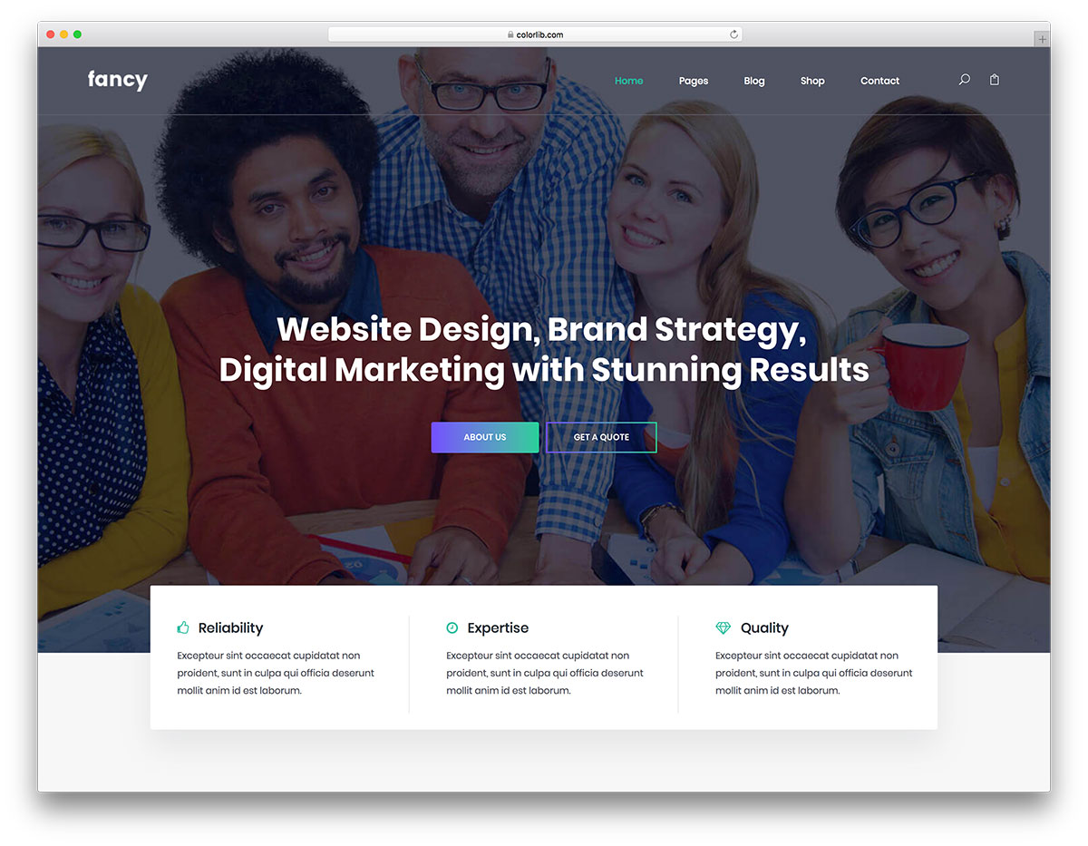 fancy free mobile-friendly website template