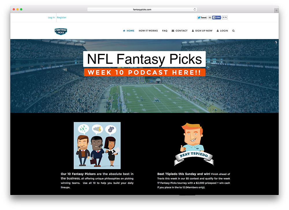 fantasypicks-fantasy-league-sports-site-example