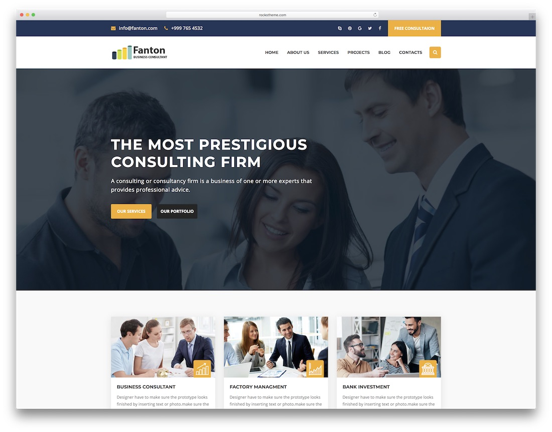 28 best consulting website templates 2018 colorlib fanton consulting website template friedricerecipe