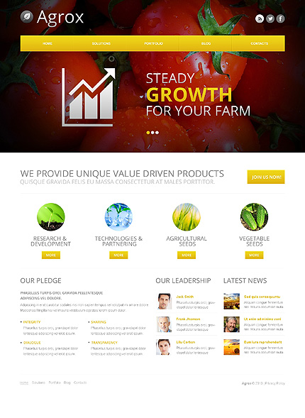 White Agriculture WordPress Theme