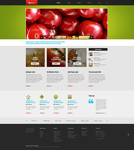 Farming Business WordPress Theme