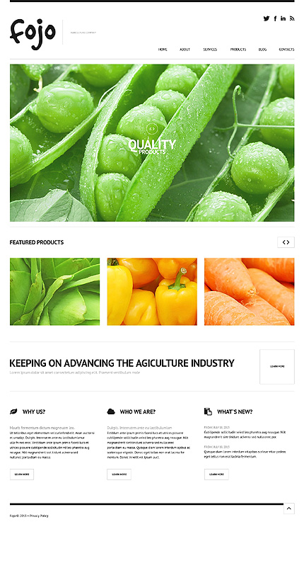 Vegetable WordPress Theme