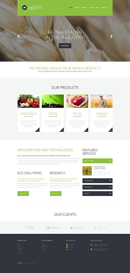 Farmer's Dream Service WordPress Theme